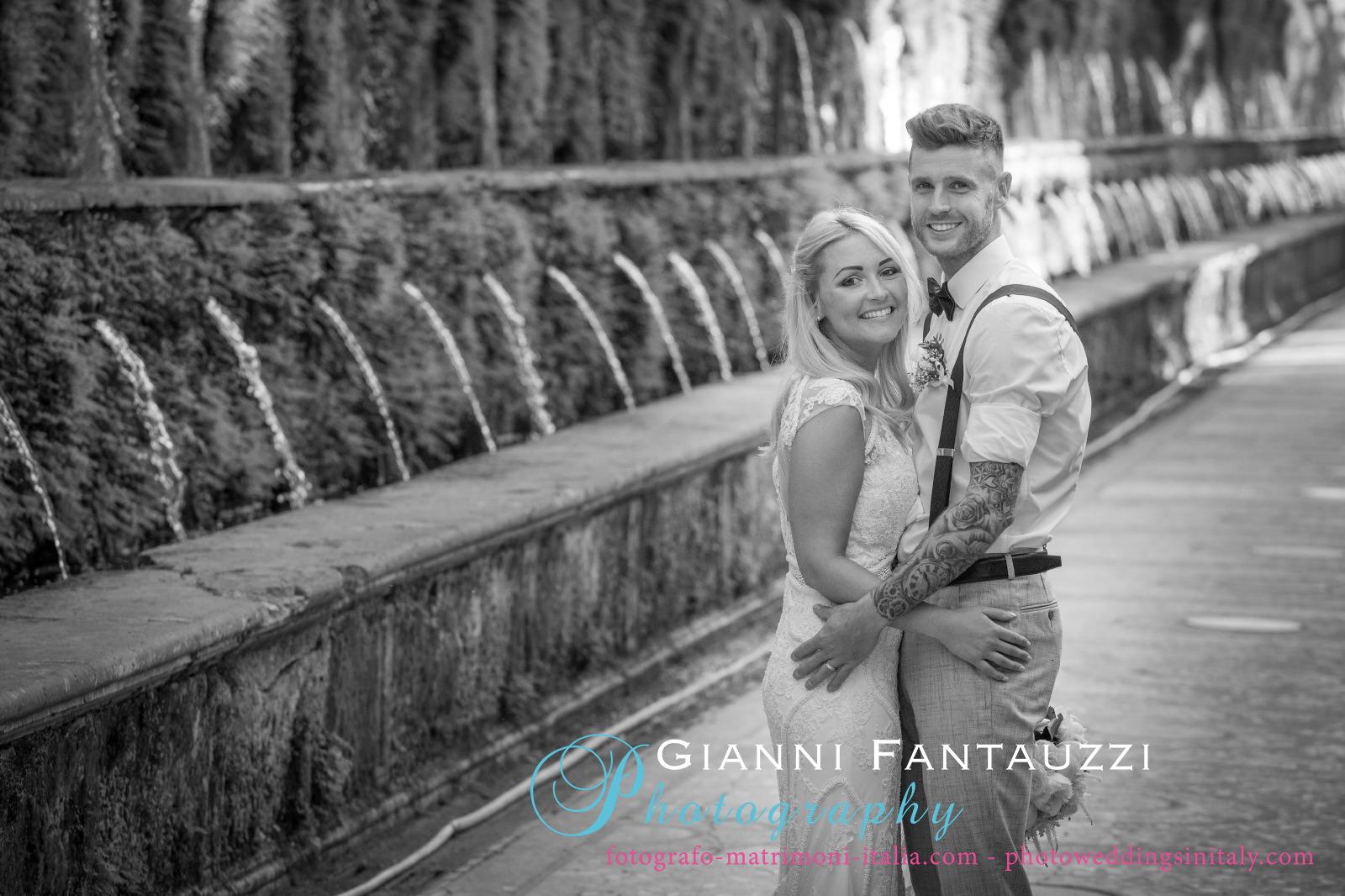 Wedding in Tivoli Villa D\'Este - Italy